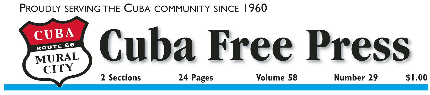 1 Year Cuba Free Press in Crawford and Adjoining Counties with website access