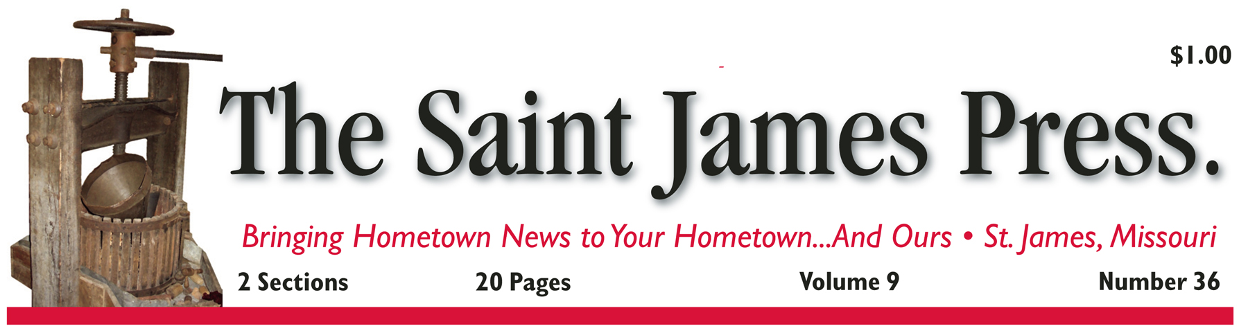 1 Year Saint James Press in Phelps and Adjoining Counties with website access